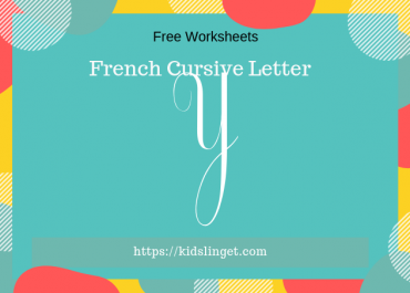 French cursive capital letter Y
