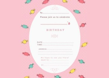 Birthday Invitation Sweets Pink
